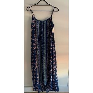 New w/ tags. Blue printed dress from As U Wish